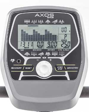 Heimtrainer Fahrrad Kettler Axos Cycle P - Display