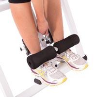 Arritierung der Füße beim Rückenstrecker